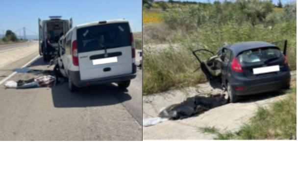 Feci Kaza!..Karşı şeride geçen araç  diğer araçla kafa kafaya çarpıştı: 2 ölü