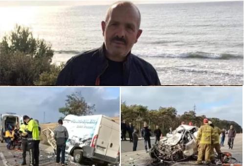 Çan'ın Acı günü!.. 2 Araç Kafa Kafa'ya Çarpıştı 2 kişi Hayatını Kaybetti